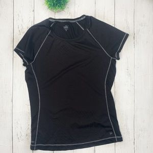 ALO Yoga Black Fitted Short Sleeve Athletic Top M